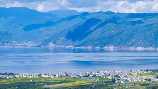 网红打卡大理苍山洱海唯美景色