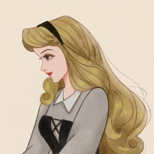 迪士尼公主系列可爱动漫手绘闺蜜头像九人一人各一张 愈是黑暗的晚上 月亮和星星就愈是美丽了