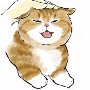 可爱卡通猫咪卡哇伊手绘插画