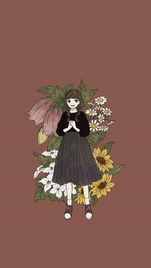 可爱少女精致唯美手绘插画