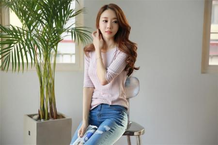 韩国美女气质牛仔写真