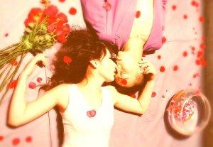 矇眬粉色玫瑰爱