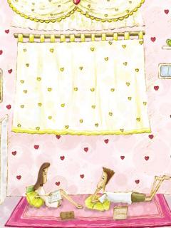 粉色可爱的手机背景图片