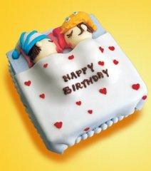 家居恋人的可爱蛋糕