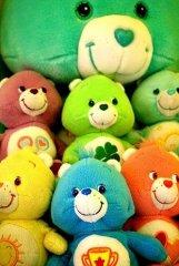五彩缤纷的小熊玩具
