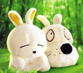 可爱的流氓兔玩具