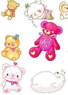 可爱的动态小熊图片