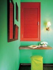 可爱的绿调房间小角落