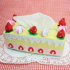 可爱的手工不织布蛋糕