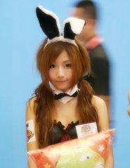可爱的兔子耳朵女生