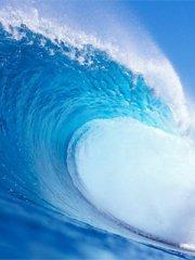 蓝色的大海手机图片