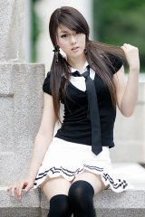 漂亮的韩国美女模特
