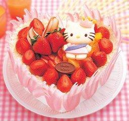 粉甜的Kitty猫草莓蛋糕