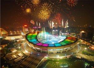 上海世博会璀璨的夜景
