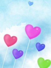 可爱心气球手机壁纸