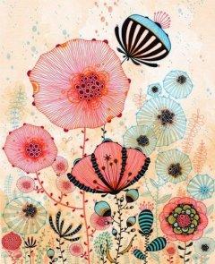 可爱的插画花朵图片