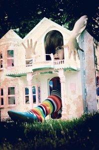梦幻城堡和少女的贴图