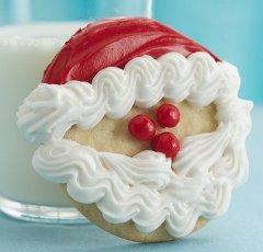 新年美味可口的甜点蛋糕饼干