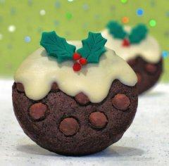 新年美味可口的甜点蛋糕饼干三