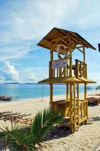 阳光明媚的夏日海滩