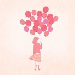 可爱气球唯美意境图片