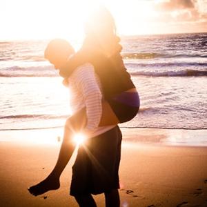 夕阳下那些相爱的恋人情侣
