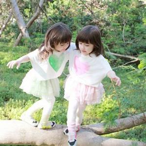 可爱混血双胞胎娜奥美丽莎