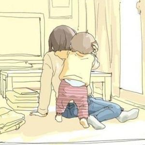 妈妈和宝宝有爱的卡通图片