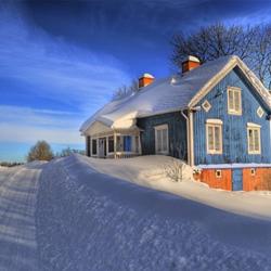 冬天下雪唯美小清新图片