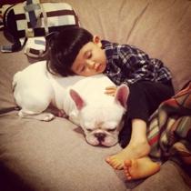 可爱萌娃宝宝和狗狗头像