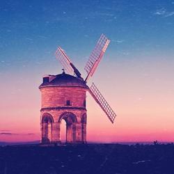 最美的风车风景图片