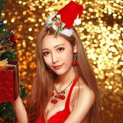 圣诞节可爱美女礼物祝福图片