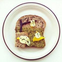 可爱艺术早餐土司美食图片