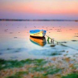 大海日落的唯美夕阳景色图片
