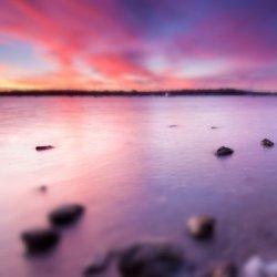 海边日落夕阳可爱风景图片