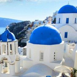 爱琴海圣托里尼风景手机图片