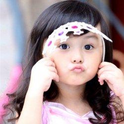 可爱小美女刘楚恬萌娃图片