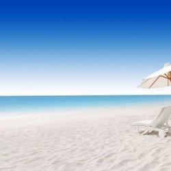 大海蓝天沙滩 海边风景图片