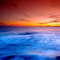 大海日出日落夕阳美丽风景图片