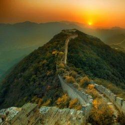 壮观的万里长城风景旅游圣地