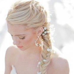 唯美新娘盘头麻花辫子