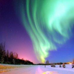 唯美的北极极光自然风景图片