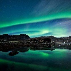 极光图片 北极夜晚星空图片