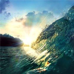 美丽的海岛海岸线风景图片