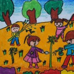 植树节图片大全儿童画
