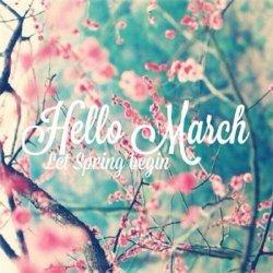 你好三月图片英文带字