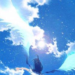 最新版唯美梦幻蓝色动漫少女图片
