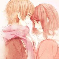 唯美动漫情侣拥抱头像