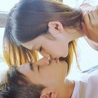 情侣头像一张两个人接吻kiss头像