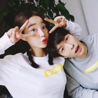 韩版好看的两人一张情侣头像